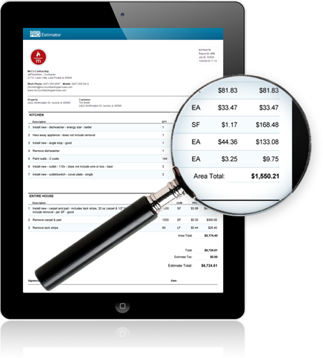 The Bluebook PRO Estimator can be used on any device that has internet connection